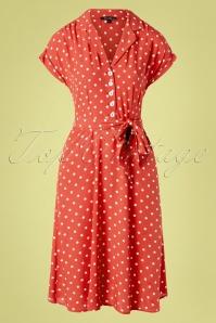 Darcy Pablo Dress Années 40 en Rose Pomme