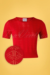 50s Nautical Jumper in Lipstick Red