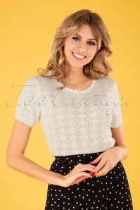 50s Nautical Jumper in Cream