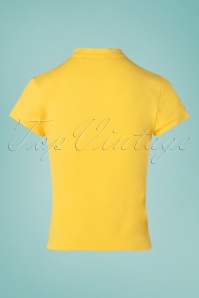 Banned 33155 Oriental Front Jersey Top Yellow 11042019 007W