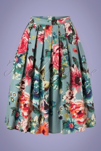 Banned 33130 Flare FLoral Skirt 11062019 002W
