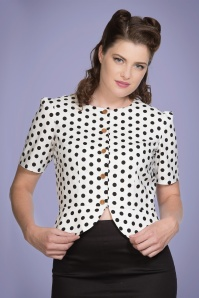 Banned Retro 60s Spotlight Blouse in White
