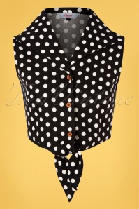 Banned 33175 Polka Blouse Black 11042019 0003W