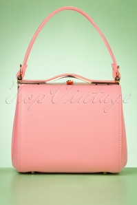 Collectif Clothing 60s Carrie Bag in Pastel Pink