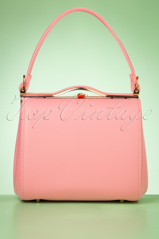 Vintage Handbags, Purses, Bags *New* 60s Carrie Bag in Pastel Pink £38.91 AT vintagedancer.com