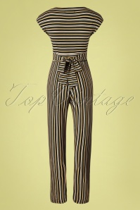 King Louie 31713 Jumpsuit Gelati Black Stripes 011520 014W