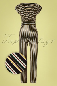 King Louie 31713 Jumpsuit Gelati Black Stripes 011520 004Z