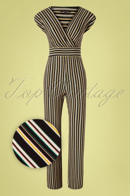 King Louie 31713 Jumpsuit Gelati Black Stripes 011520 004Z