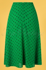 King Louie 31661 Alineskirt Green Polkadots 40s Juno 011520 004W