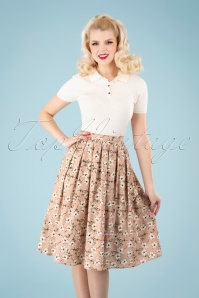 Banned 33129 Fresh Bloom Print Flare Skirt 11062019 040M W