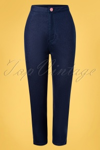 Banned 32823 Diner Days Trousers Dark 11112019 004W