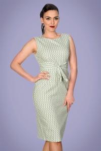 Banned 33141 Tile Print Wiggle Dress Mint 20191105 020L copy