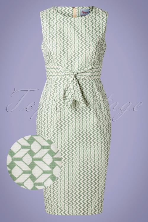 Banned 33141 Tile Print Wiggle Dress Mint 11072019 003 Z