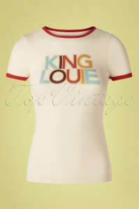 King Louie 70s Logo Tee in Marshmallow