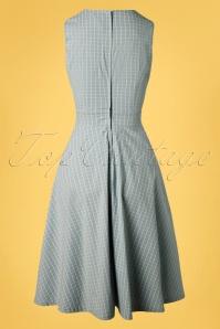 Banned 33105 Grid Check Dress Blue 11072019 006W