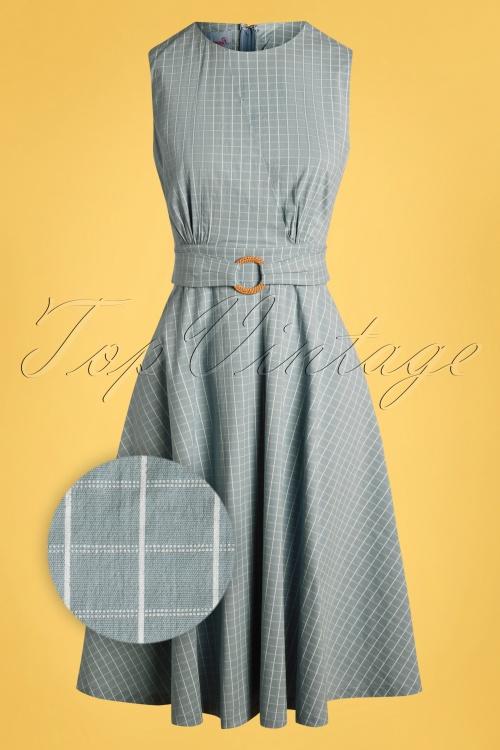 Banned 33105 Grid Check Dress Blue 11072019 002Z