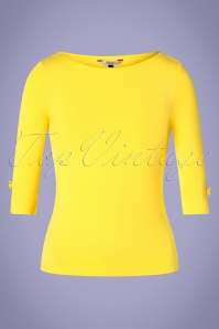Banned Retro 50s Modern Love Top in Yellow