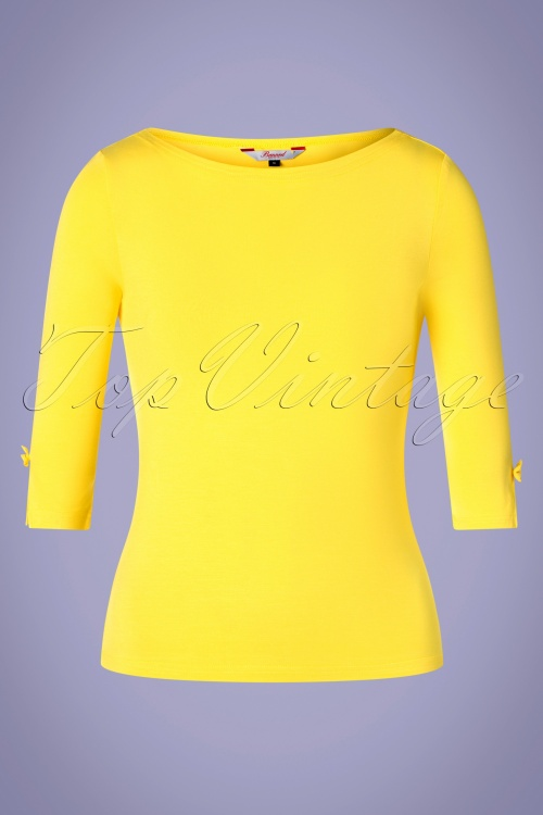 Banned Retro 32455 Yellow Modern Love Shirt 200116 002W