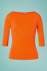 Banned Retro 50s Modern Love Top in Orange