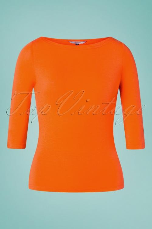 Banned Retro 32456 Orange Modern Love Shirt 200116 003W