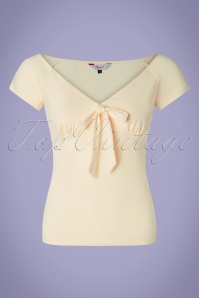 Banned Retro 50s Bow Wow Top in Cream