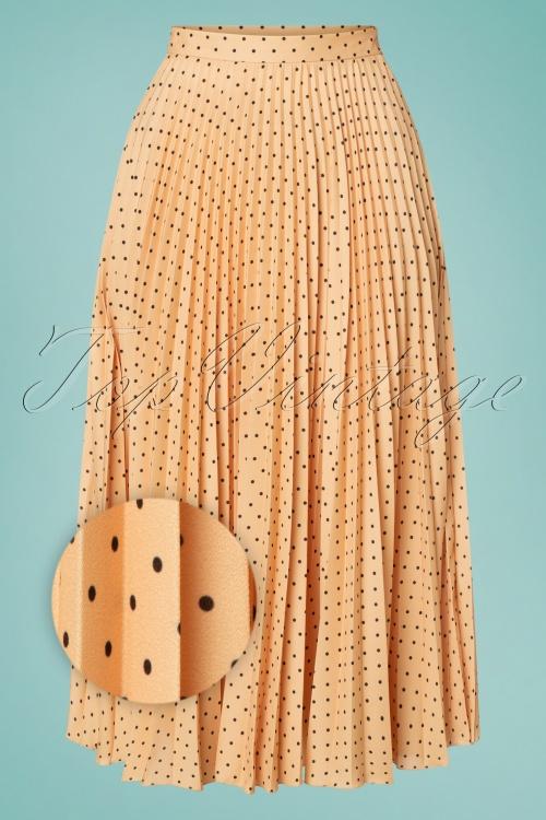 Closet London 33336 Apricot Pleated midi Skirt 200116 003Z