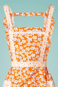 Collectif Clothing 31862 LouiseFlower Orange Apron 200116 007 V