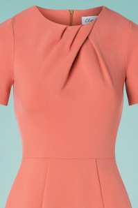 Closet London 33337 Apricot Body Con Dress Pink 200117 003V