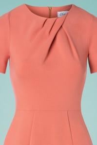 Closet London 33337 Apricot Body Con Dress Pink 200117 003V