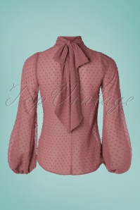 Closet London 33338 Gather Neck Bouse Pink Blush 200117 008W