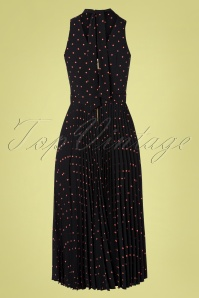 Closet London 33340 Polkadot Black Pink Dress 200117 003W