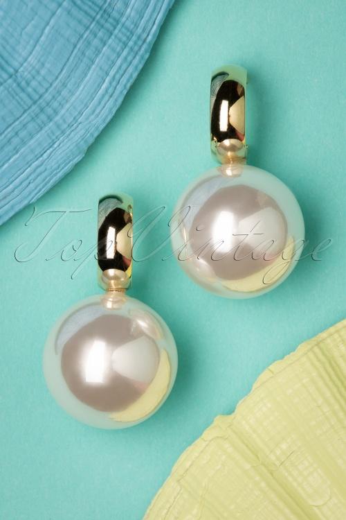 Darling Divine 33431 Earrings Pearls White Gold 200120 003 W