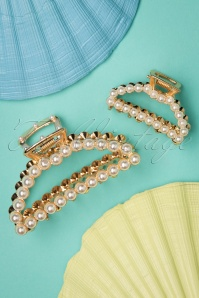 Darling Divine Pearly Hair Clip Set en Doré