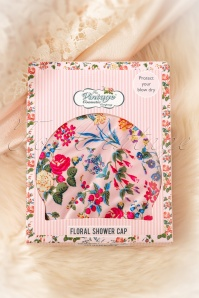 Vintage cosmetic 30763 Floral Shower Cap 01162020 002W