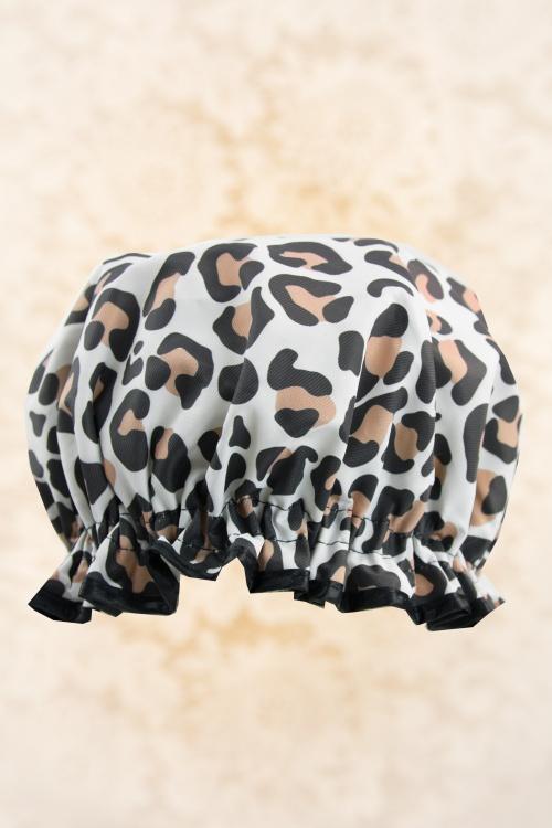 Vintage cosmetic 31240 Leopard Print Shower Cap 01162020 002