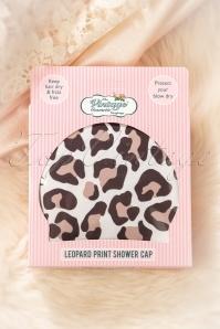 Vintage cosmetic 31240 Leopard Print Shower Cap 01162020 001W