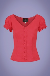 Collectif 32123 Sofia Gypsy Top in Red 20200120 020LW