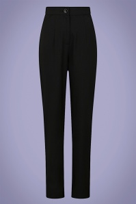 Collectif 32145 Louise Cigarette Trousers Black 20200120 020L copy