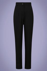 Collectif 32145 Louise Cigarette Trousers Black 20200120 020L copy