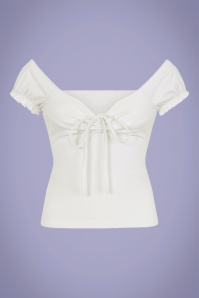 Collectif Clothing 50s Sasha T-Shirt in White