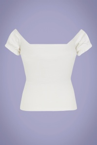 Collectif 32046 Sasha T Shirt in White 20200121 020L copy