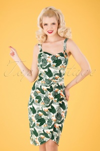 Collectif 32167 Mahina Bird Of paradise Sarong White 040MW