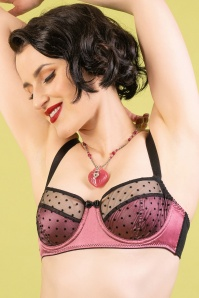 rose dot bra suspender belt front 2 D