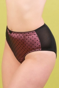What Katie Did 50s Dot High Waist Knickers in Dusky Rose
