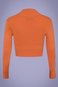 Collectif 32121 Jean Knitted Bolero in Orange 20200120 021L W