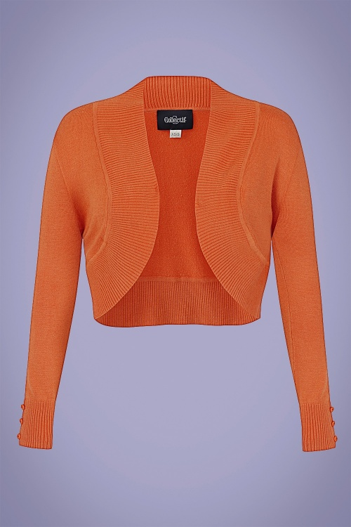 Collectif 32121 Jean Knitted Bolero in Orange 20200120 020L W
