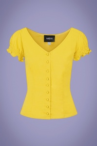 Collectif 32124 Sofia Gypsy Top in Yellow 20200120 020LW