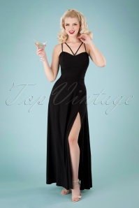 Collectif 32211 Amalia Maxi Dress Black 040MW