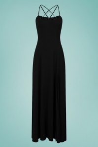 Collectif 32211 Amalia Maxi Dress in Black 20200120 020LW