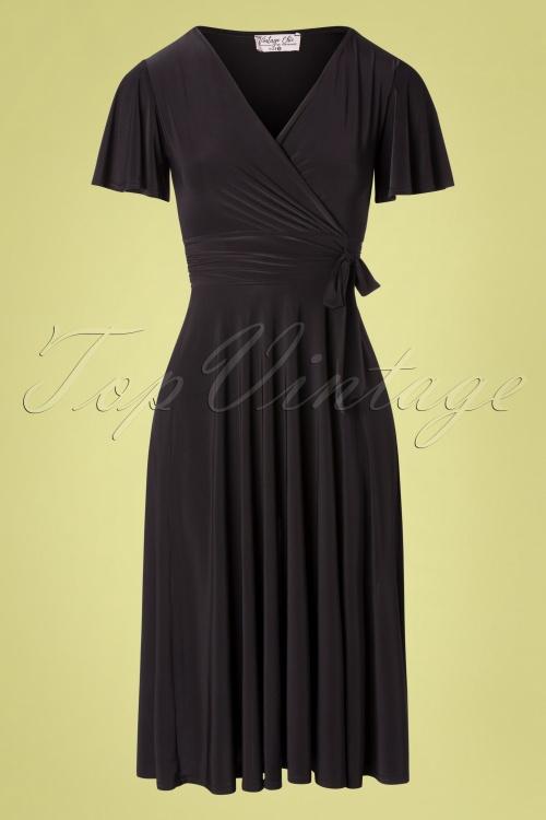 Vintage Chic 33365 Swindress Black 40s Irene 012120 004W